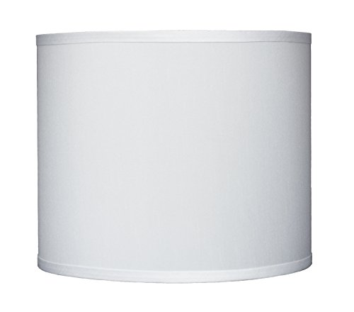 Urbanest Faux Silk Drum Lampshade, 12-inch By 12-inch By 10-inch, Off White, Spider Fitter (Lamp White Pendant Silk)