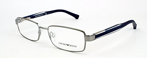 Emporio Armani Montures de lunettes 1002 Pour Homme Matte gunmetal, 51mm 3010: Gunmetal