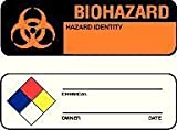 National Marker Corp. WOL3 Labels, Hazard Warning, NFPA, 1 Inch X 3 Inch, PS Paper, 500/Rl
