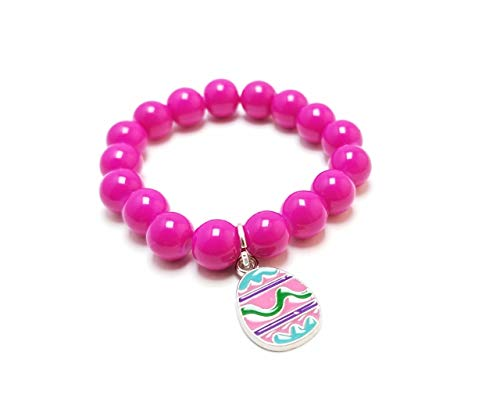 Kids HAPPY EASTER Beaded Bracelet, Little Girls Easter Bunny