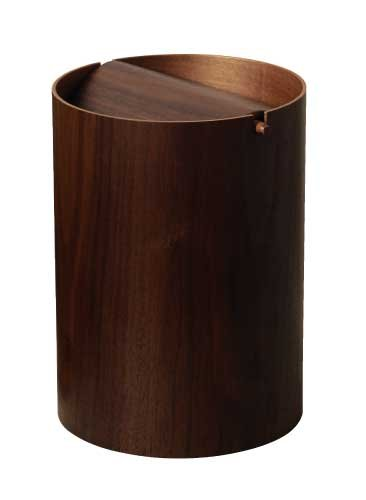 SAITO WOOD ごみ箱 ダストボックス 回転蓋 WN952A 9L ウォールナット B0013IFSAA