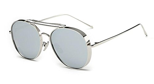GAMT Polarized Aviator Sunglasses Round Mirrored Colored Lens for Women