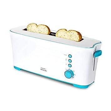 Cecotec Tostadora Toast&Taste 1L Con capacidad para dos tostadas, Ranura XL, 1000 W de potencia y 7 posiciones de tostado, función descongelar y ...