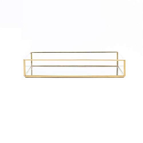 | Storage Trays | Nordic Ins Gold Vintage Jewelry Plate Gold-rimmed Glass Storage Tray Desktop Storage Decorative Plate | by NAHASU