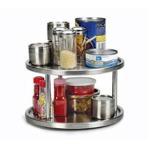 RSVP Endurance Stainless Steel 2 Tier Kitchen Turntable