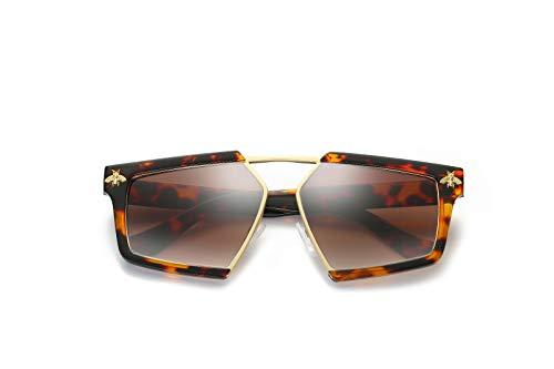 Hombre Gafas Sol de Ojos Intellectuality polarizadas Sol de C Mujer D Retro Gafas de Personalidad qAZR1I