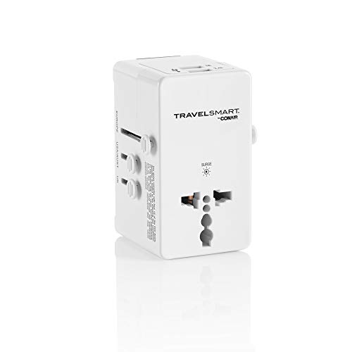 Travel Smart by Conair All in One Adapter with 2 Outlets and 2 USB Ports
