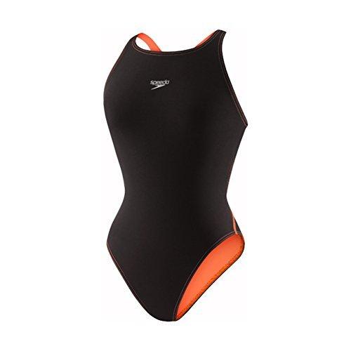 Recordbreaker with Comfort Strap Female Black/Orange 26 (Speedo Lzr Racer Swimsuit)