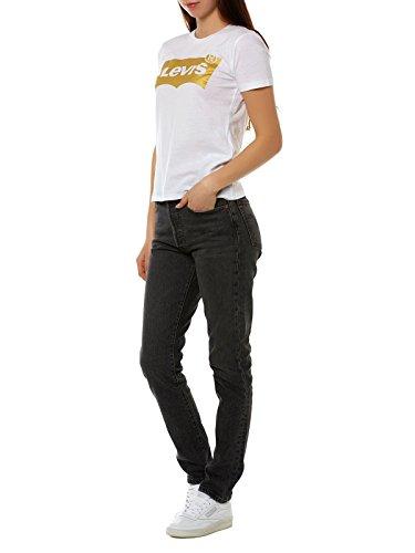 Levi's the Perfect Tee - Camiseta para Mujer blanco oro