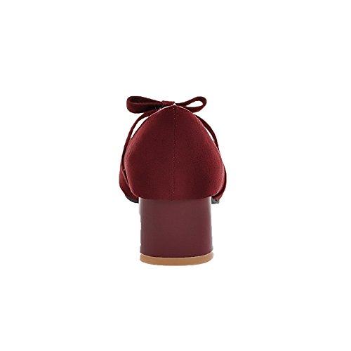 cerrada mujer con tacones sólidos VogueZone009 punta para y Bombas xqC8nSY