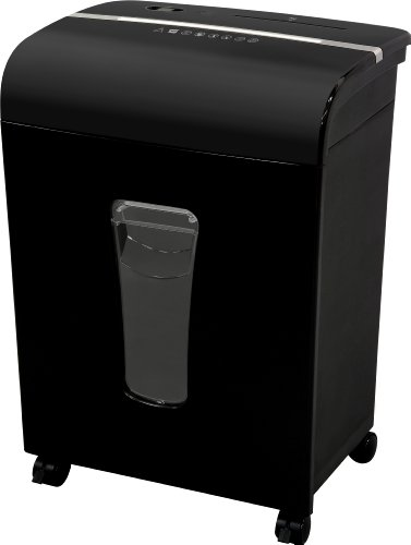 (Sentinel FM120P 12-Sheet High Security Micro-Cut Paper/CD/Credit Card Shredder with Pullout Basket, Black)