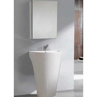 . Parma Pedestal Sink with Medicine Cabinet   Modern Bathroom Vanity