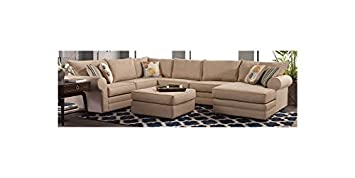 4-Pc Sectional Sofa Set in Vibrant Linen