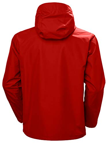Helly Hansen Men's Seven J Waterproof, Windproof, and Breathable Rain Jacket with Hood