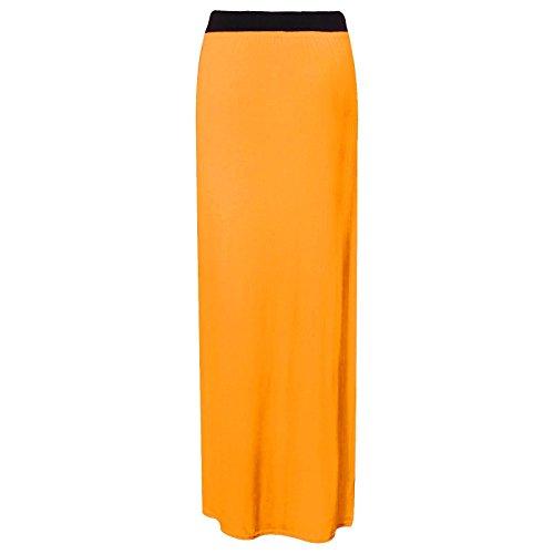 Runway Splash - Jupe Femme Maxi Long Jersey Gitan Moulant Et 36 - 54 Neuf Moutarde