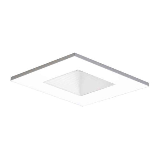 HALO Recessed 3012WHWB 3-Inch 15-Degree Trim Lensed Square Shower Light with Baffle, ()