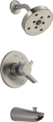 - Delta Faucet T17461-SS Compel 17 Series MultiChoice Tub/Shower Trim, Stainless