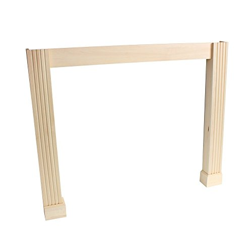 Frederick Leg and Skirt Kit Paint Grade Unfinished Poplar Full Surround Shelf Conversion Kit