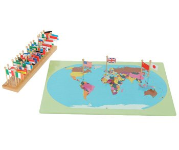 Montessori world map flags and stand amazon toys games montessori world map flags and stand gumiabroncs Images