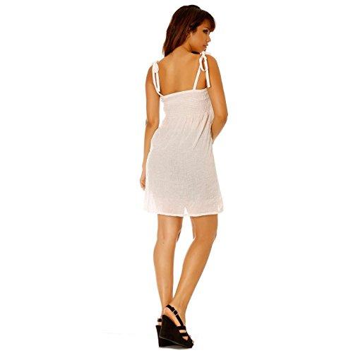 Miss Wear Line - Robe blanche à bretelle avec bandeau élastique