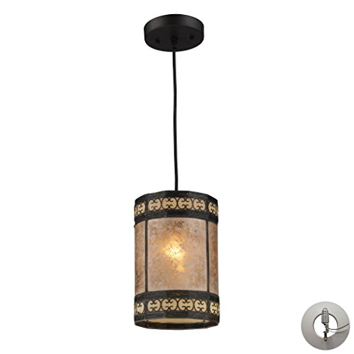 Mica Filigree 1-Light Pendant In Tiffany Bronze Includes An Adapter Kit To Allow For Easy Conversion Of A Recessed Light To A Pendant