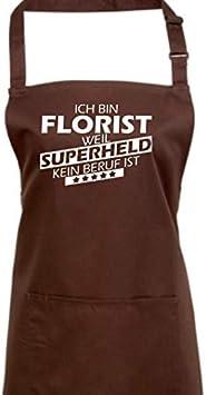 Ich Bin Florist Latzsch/ürze Sch/ürze Grillen Essen Kochen K/üche Spruch Logo Ausbildung Beruf Shirtstown Kochsch/ürze Weil Superheld kein Beruf ist Farbe Black