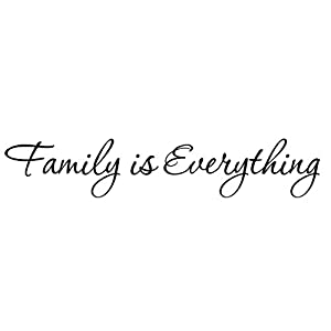 family is everything decals wall decal quotes home decor vinyl quotes designs family. Black Bedroom Furniture Sets. Home Design Ideas