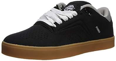 Osiris Men's Techniq VLC Skate Shoe, Black/White/Gum, 5 M US