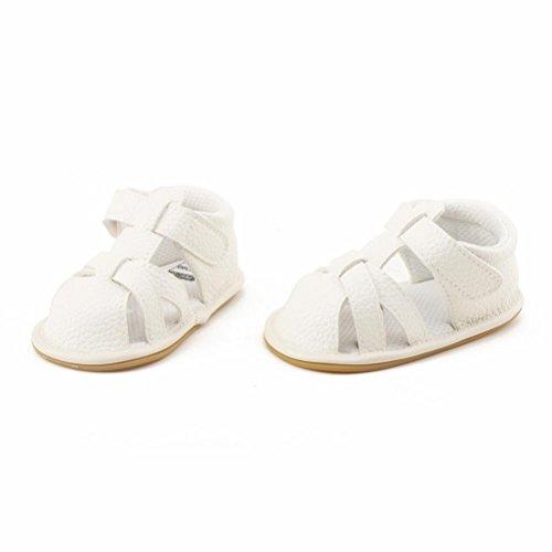 Bebé Zapatos, OverDose Niño Niña Sandalias Zapatos De Closed Toe Verano Moda Durable Bebé Zapatos Blanco