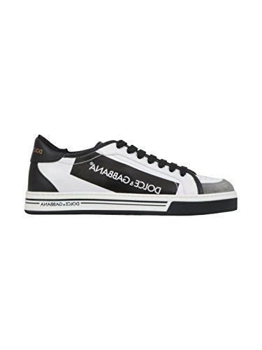 Dolce E Gabbana Mænd Cs1589an405hwi67 Hvid / Sort Læder Sneakers 6em1E8