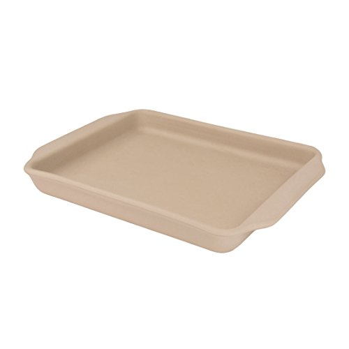 American Bakeware Medium Baking Sheet - Non Stick Ceramic Stoneware - Heat Resistant to 400 °F - No Metal, Lead, or other Harmful Materials - Safe for Ovens, Microwaves, Dishwasher, Made in the USA