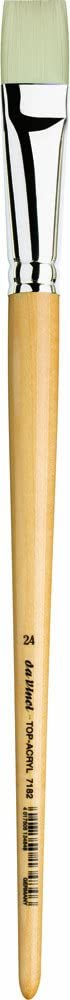 7482-40 da Vinci Oil /& Acrylic Series 7482 Top Acryl Paint Brush Size 40 Filbert White Synthetic with Long Natural Polished Handle