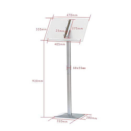 SYF Floor-Standing Flip Menu Menu Display Stand | Sales Department Contract Information Public Display Price Tag Advertising Stand Licensing Magazine Rack A+ (Color : White)