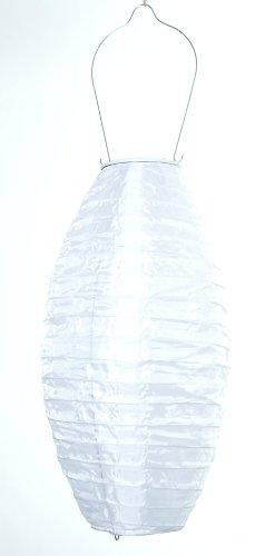 Allsop Home and Garden 7-Inch by 15-Inch Oblong Soji Pod Solar Lantern, White, 1-Count