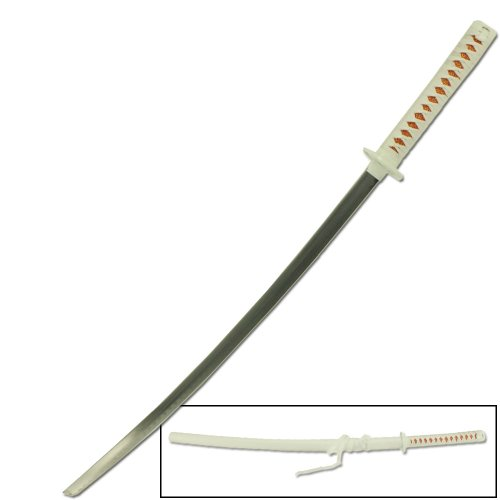 Japanese Anime Katana Ninja Replica Sword All White - Carbon Steel Blade