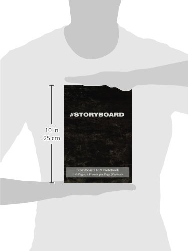 Storyboard 16:9 Notebook 160 Pages 4 Frames Per Page (Vertical