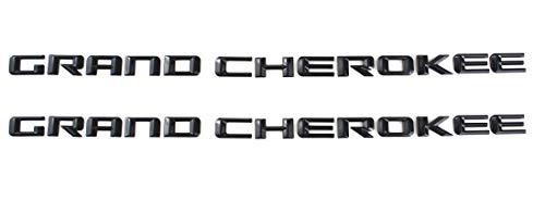 Aimoll 2X Grand Cherokee Altitude Emblems,3D Letter ABS Nameplate Set Emblems for SRT Badge New 08-15 (Black)