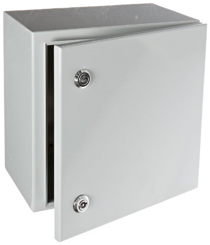 (BUD Industries Series SNB Steel NEMA 4 Sheet Metal Box with Mounting Bracket, 11-51/64