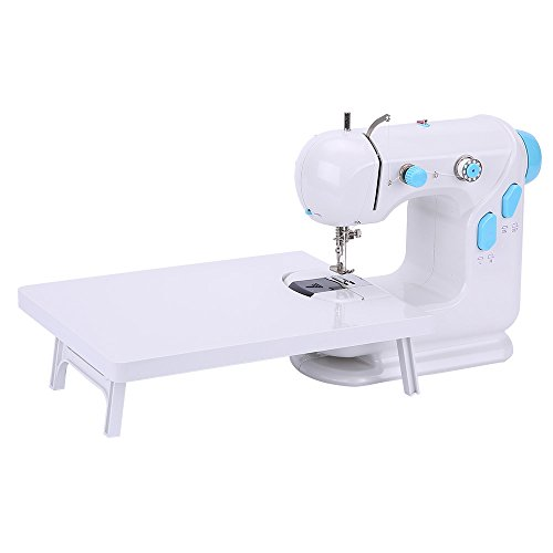 Sewing Machine, Double Speed Sewing Machine with Extension Table Lightweight with Light Foot Pedal (Blue) by BAITENG