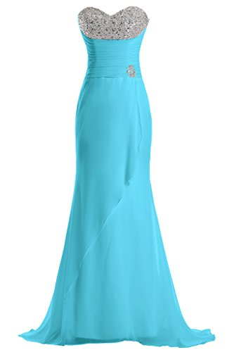 Sunvary per Blu damigella Chiffon linea da della feste Sweetheart vestito lunghe d'onore TF4WSTqnr