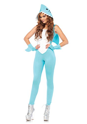 Leg Avenue Women's Cute Shark Halloween Costume, Aqua -