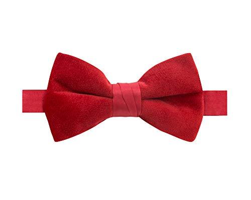 Spring Notions Boys' Velvet Bow Tie Medium Red