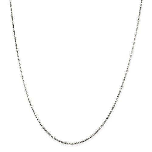 Octagonal Snake Chain - 925 Sterling Silver 1.25mm Octagonal Snake Necklace Chain Pendant Charm Fine Jewelry Gifts For Women For Her