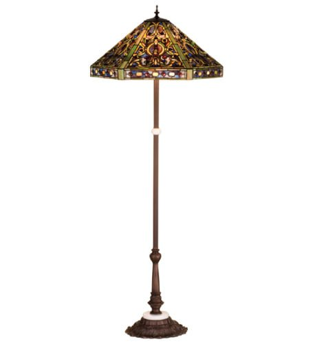 Tiffany Style Stained Glass Elizabethan L Floor Lamp (Elizabethan Chandelier Light)