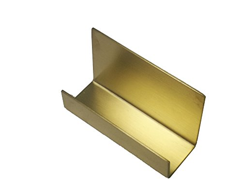 Stainless Steel Desk Business Card Holder Name Card Stand Business Card Rack Organizer (Gold)