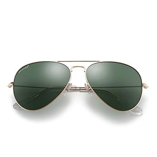 PANNER Military Aviator Sunglasses Classic Style for Men Women 100% UV Protection