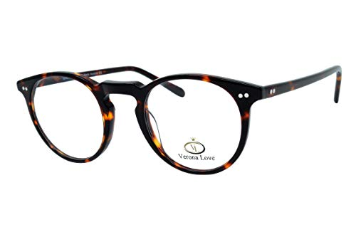 - High End Acetate Eyewear Frame Turtle Fashion Eyeglasses Optical Frame For Men and Women (Utah Demi Amber)