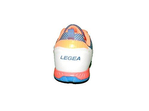 LEGEA EMANU scarpe calcetto outdoor calcio ragazzo uomo leggere bianco