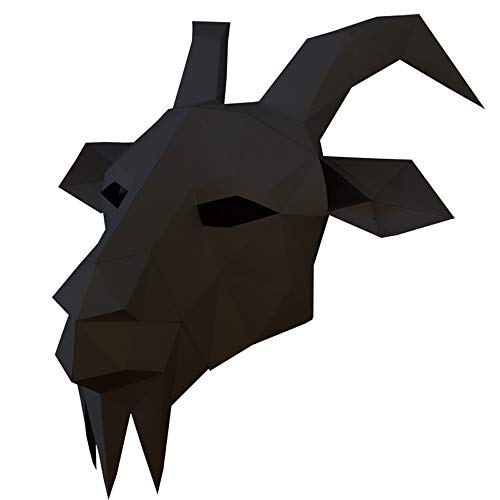 Longpro Halloween Cosplay Costume Mask Goat Head Animal Style for Adults Party Decoration Costume Props