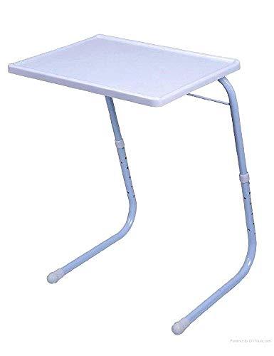 Mesa Auxiliar Plegable Mesas de salon para lamparas Mesa portatil Regulable 6 ajustes de Altura 3 ajustes de inclinacion